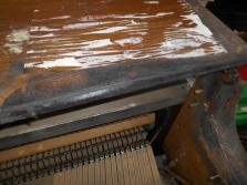 Piano's Top Lid Was Scorched, Yet the Action, Keys, and Player System Were Preserved