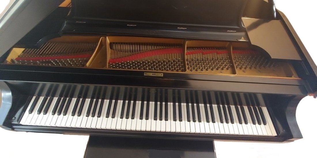Steinway & Sons Model L Grand Piano - Front View