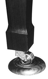 Deluxe Hardwood Piano Caster Cup w/5 inch diameter